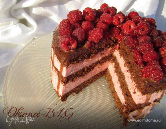 """Торт """"Шоколадно-малиновый бархат"""""""