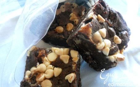 Рецепт Брауни с шоколадными каплями и маршмеллоу