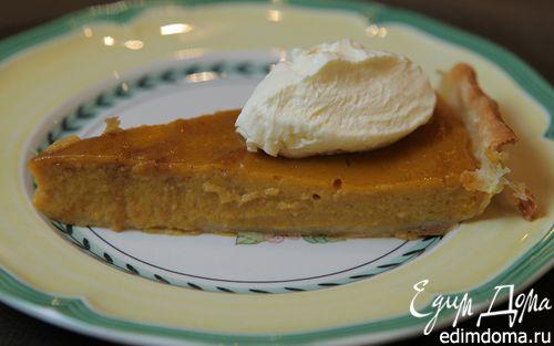 Рецепт Тыквенный пирог с имбирем и корицей
