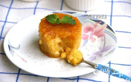 Рецепт «Яблочный флан» с корицей и медом