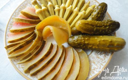 Рецепт Маринованная бамия и арбуз
