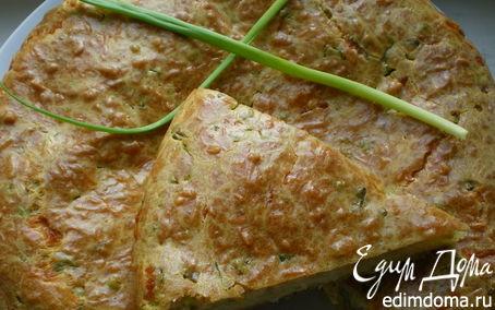 Рецепт Сырный пирог с зеленым луком