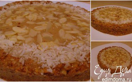 """Рецепт Сыроедный торт """"Рыжик"""" с грушевым кремом"""