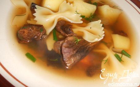 Рецепт суп с сушеными грибами