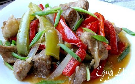 Рецепт Кисло-сладкое рагу из свинины
