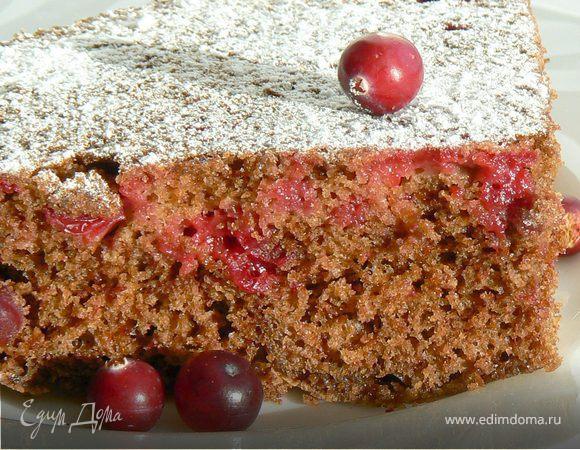 Шоколадный пирог с клюквой