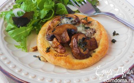 """Рецепт Тарты с грибами и грецкими орехами (готовим с """"HomeQueen"""")"""