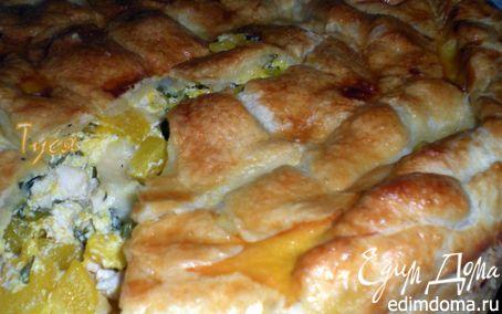 Рецепт Пирог с курицей и тыквой