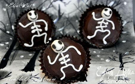Рецепт Ванильные кексы с повидлом и шоколадом Halloween