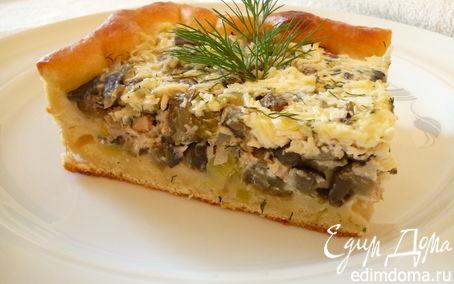 Рецепт Пирог с баклажанами и копченой куриной грудкой