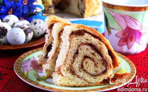 Рецепт Персиковый пирог с маскарпоне и фундуком