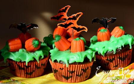 Рецепт Шоколадные капкейки с тематикой Halloween