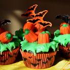 Шоколадные капкейки с тематикой Halloween
