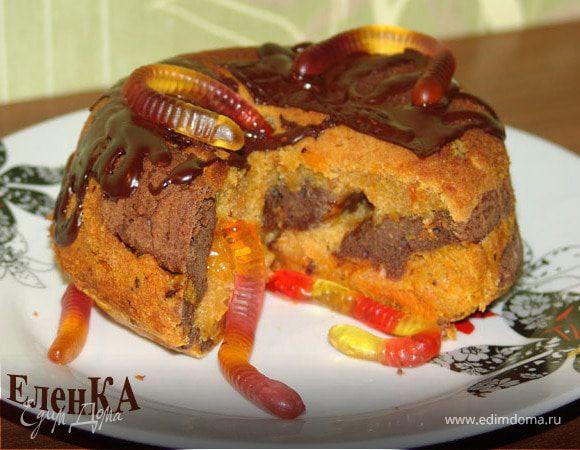 """""""Гнилостный червивый"""" кекс для Halloween"""