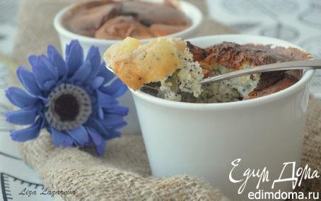 Рецепт Горячий творожный десерт с маком и фруктами