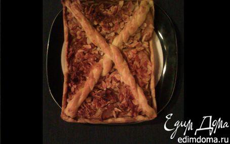 Рецепт Ромовый пирог с яблоками и миндалем (Apfelpirogge)