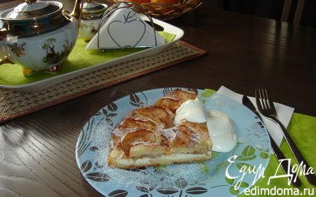Рецепт Классическая шарлотка с яблоками и творогом