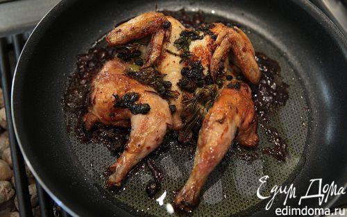 Рецепт Цыплята с оливками, каперсами и розмарином