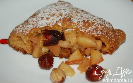 Рецепт Конвертики из творожного теста с яблоками и фундуком