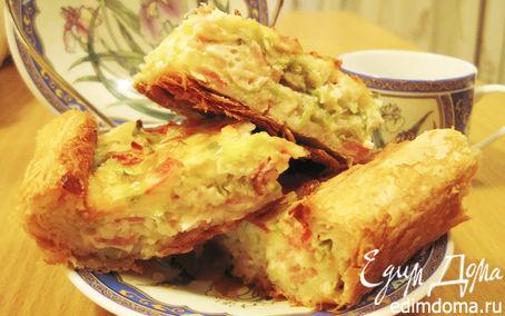 Рецепт Французский луковый пирог с беконом