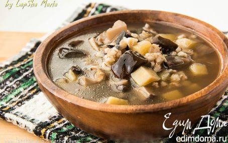 Рецепт Назад в СССР: Грибной суп с перловкой