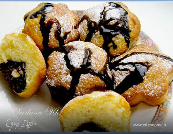 Творожные кексы с начинкой