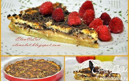 Рецепт Чизкейк с яблоками и темным шоколадом