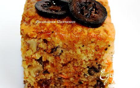 Рецепт Морковный кекс с грецкими орехами и изюмом