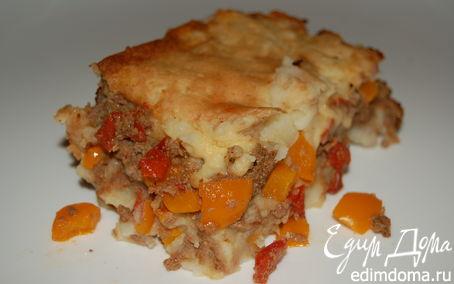 Рецепт Картофельная запеканка с фаршем и овощами