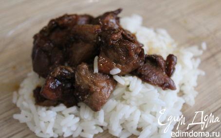 Рецепт Индейка в соусе терияки с рисом в мультиварке в мультиварке