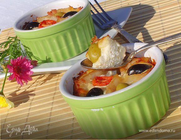 Пате из творога с оливками и маслинами