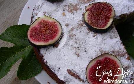 Рецепт Пирог на оливковом масле с лимоном и инжиром или другими фруктами