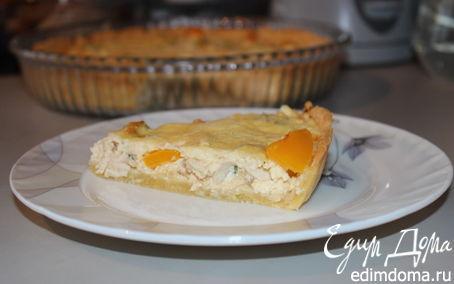 Рецепт Киш с курицей, перцем и сельдереем
