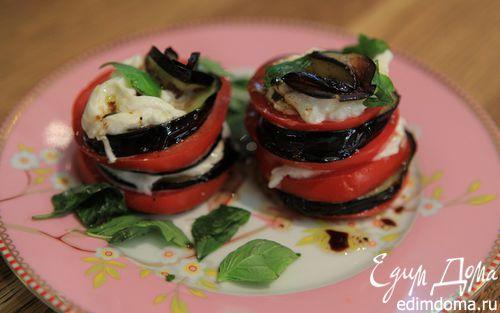Рецепт Наполеон из овощей и сыра буррата