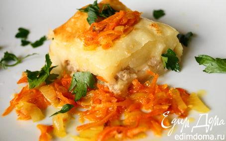 Рецепт Картофельная запеканка с куриным фаршем и сыром