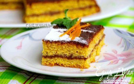 Рецепт Тыквенно-апельсиновый пирог с шоколадной помадкой
