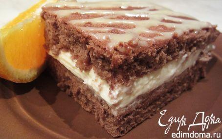 Рецепт Шоколадное медово-апельсиновое пирожное