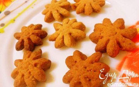 Рецепт Кофейное печенье с орехами