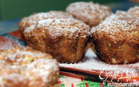 Рецепт Овсяно-творожные кексики-маффины с яблоком