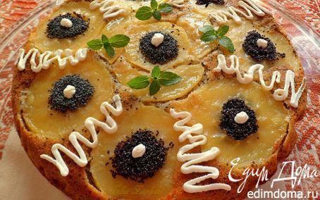 Рецепт Маковый пирог с яблоками