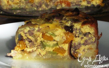 Рецепт Картофельный пирог с сытной мясной начинкой