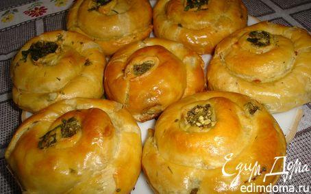 Рецепт Булочки с сыром и зеленью