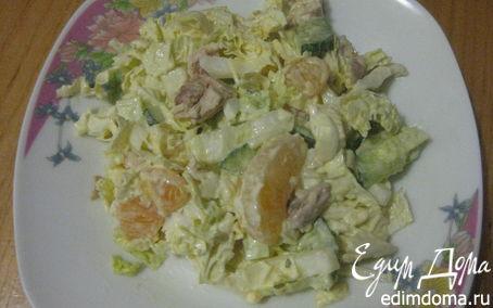 Рецепт Легкий салат с пекинской капустой и курочкой
