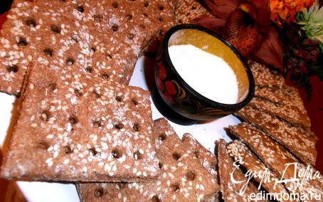 Рецепт Назад в СССР: Хрустящие ржаные хлебцы