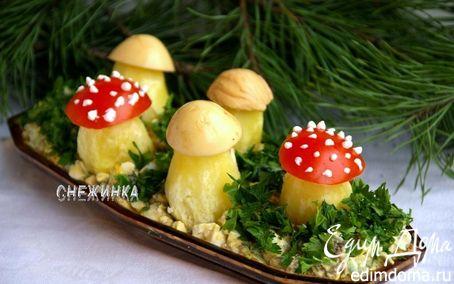 Рецепт Назад в СССР: Салат «Грибная поляна»
