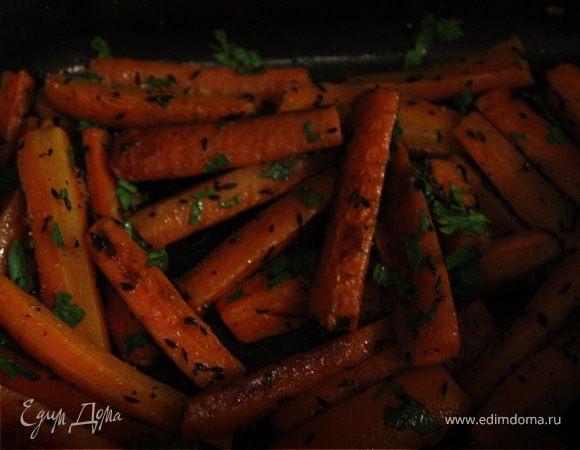 Морковь, запеченная с зирой