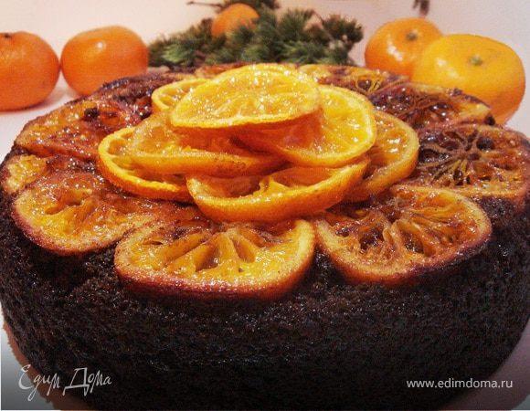 Черемуховый пирог с мандаринами
