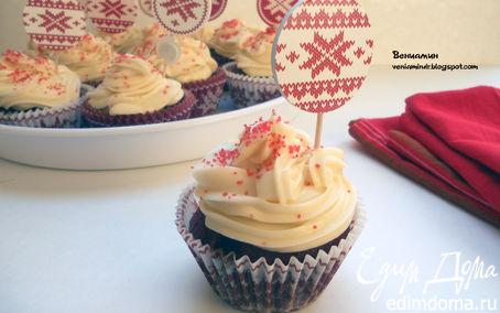 "Рецепт Капкейки ""Красный бархат"" (Red Velvet Cupcakes)"