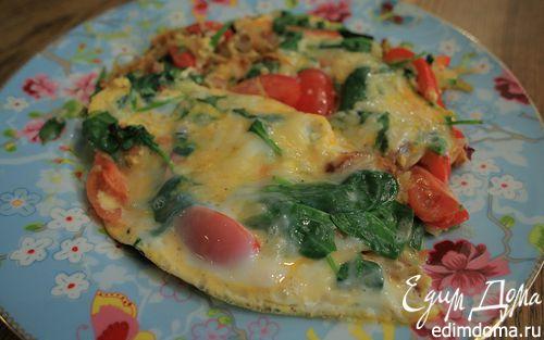Рецепт Тортилья с овощами и сыром