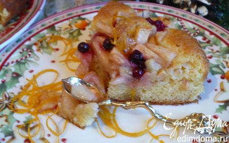 Рецепт новогодний яблочно-клюквенный пирог